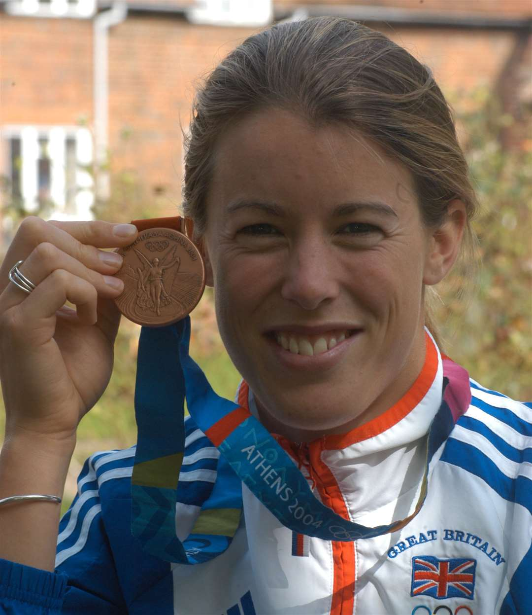 Georgina Harland with her bronze medal which saw won in 2004 Picture: Barry Duffield