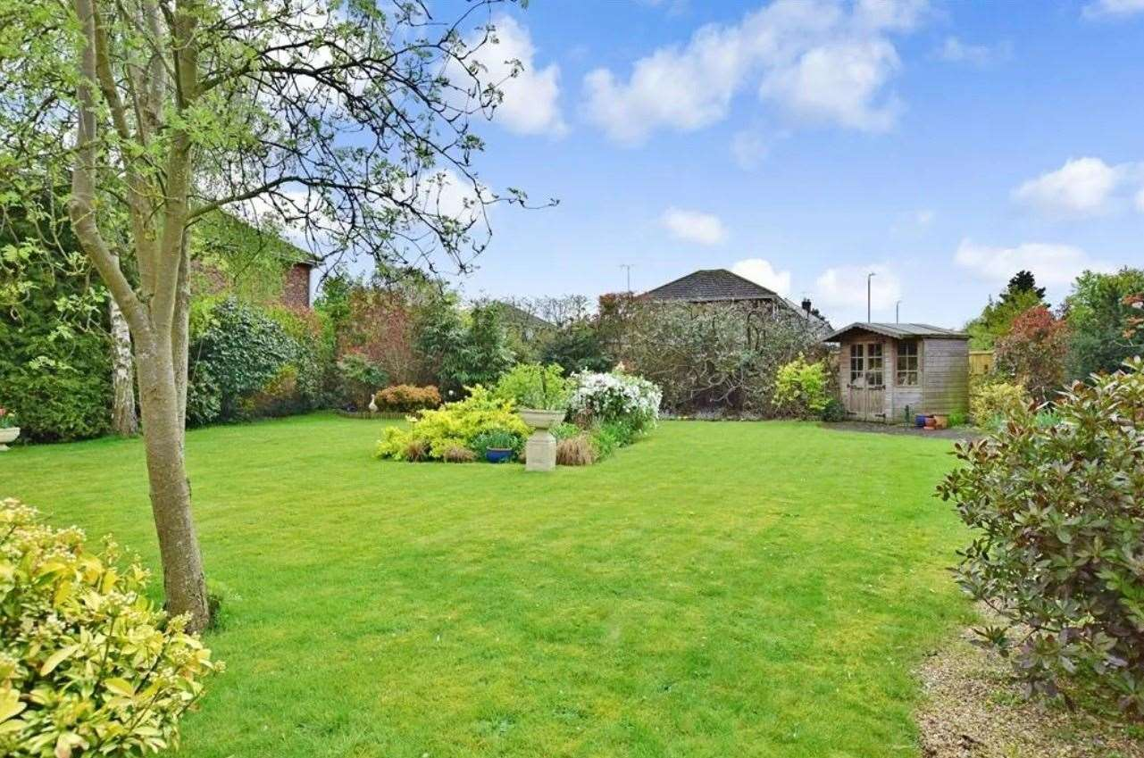 The rear garden. Picture: Zoopla / Wards