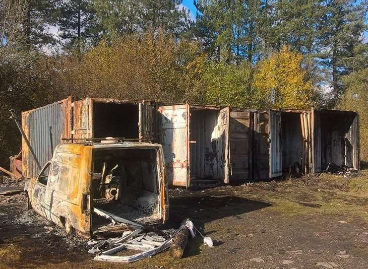 The community project site has been vandalised and set on fire