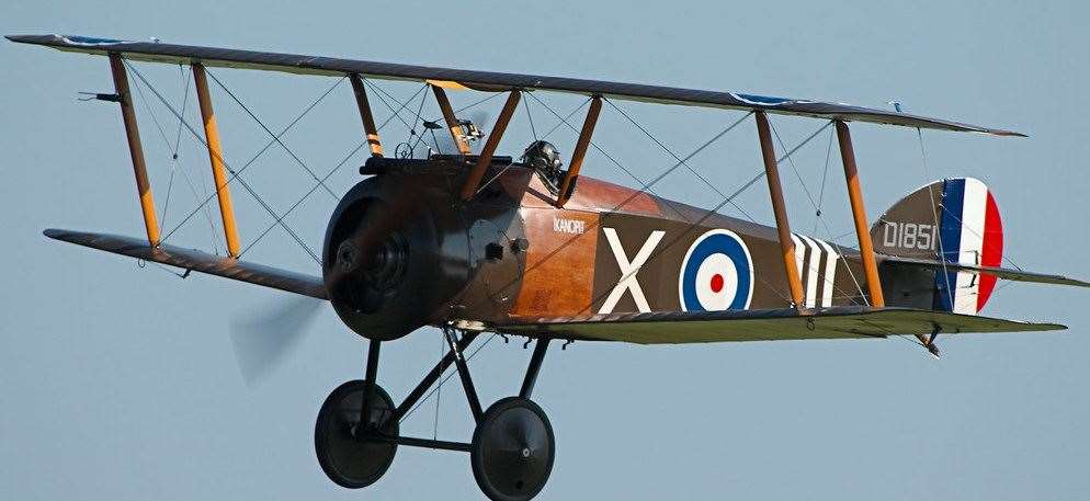 The Sopwith Camel was credited with downing 1,294 enemy aircraft