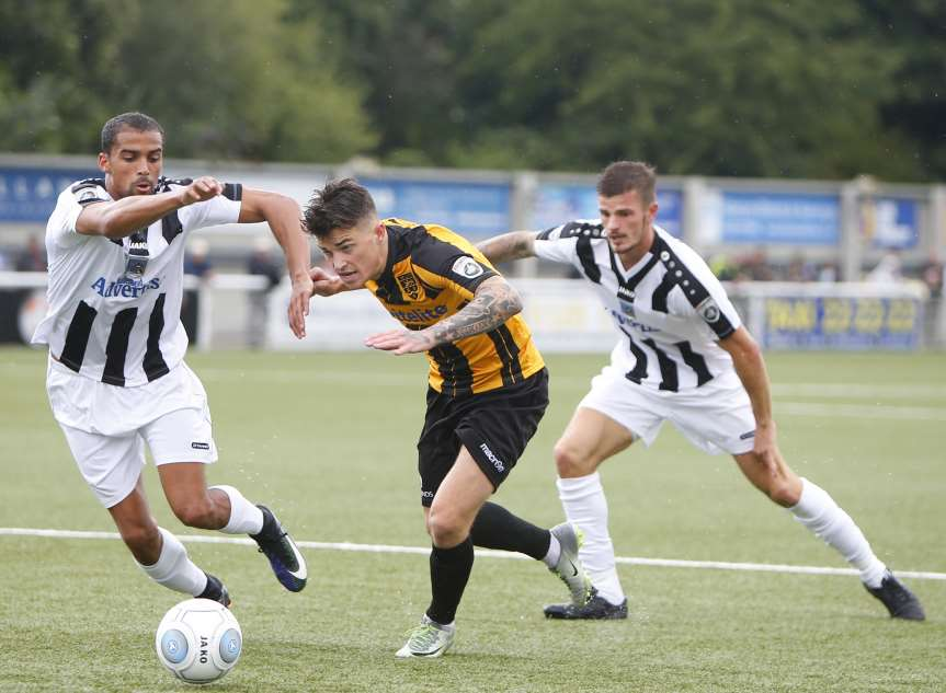 Jack Paxman works an opening for Maidstone Picture: Andy Jones