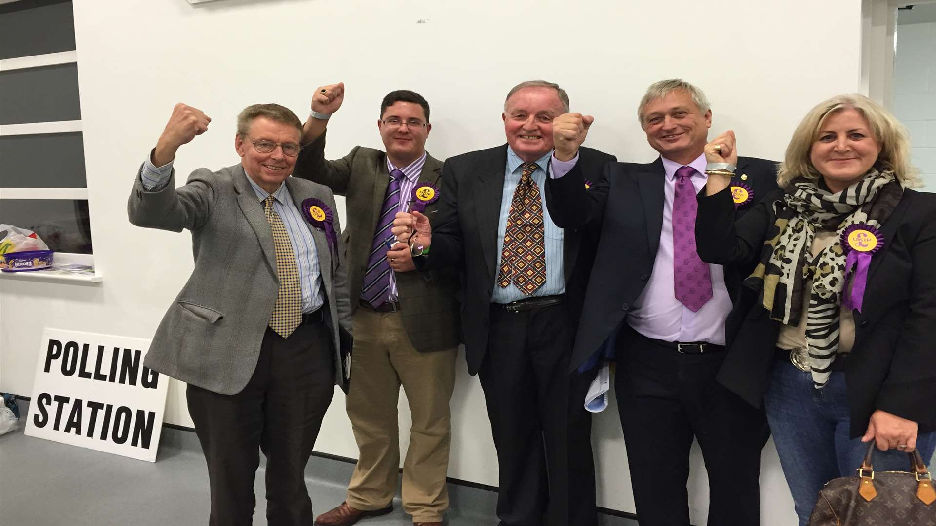 Ukip celebrate Sheppey Central win