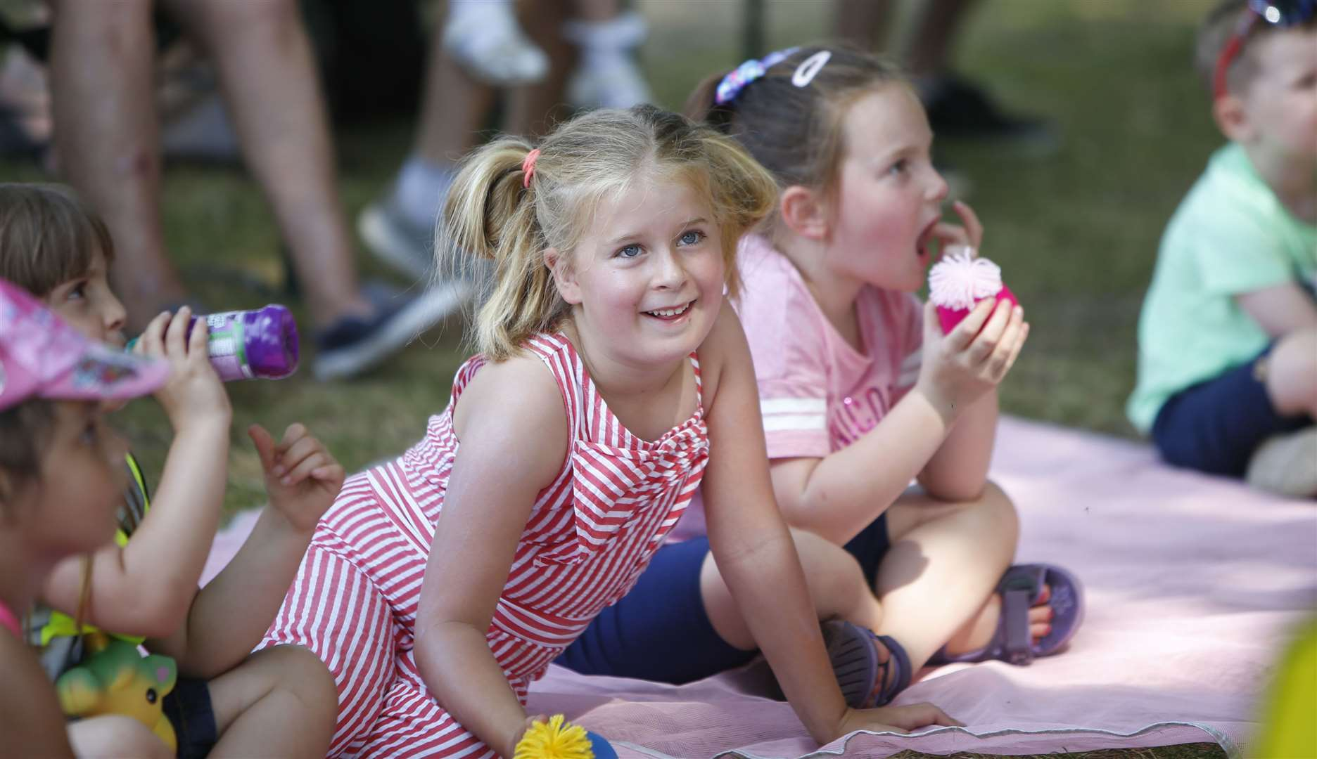Enjoying the Punch & Judy Show last year Picture: Andy Jones