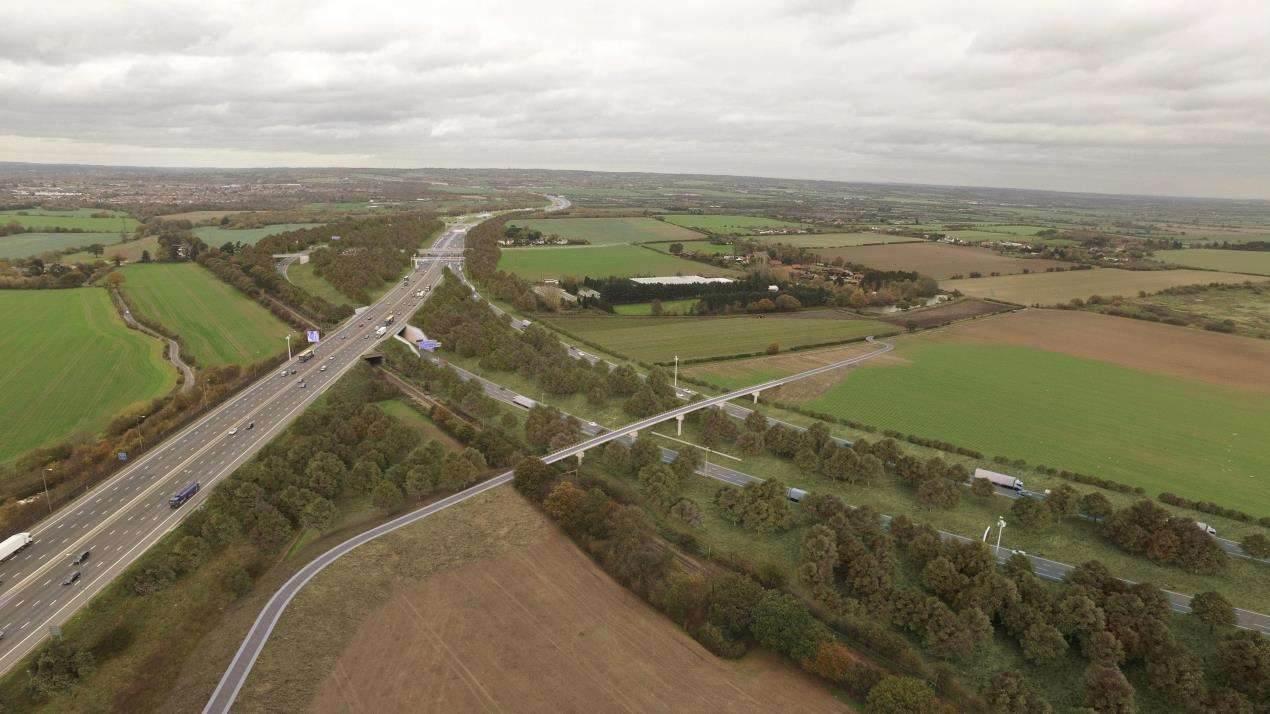 How the Lower Thames Crossing junction with the M25 in Essex could look