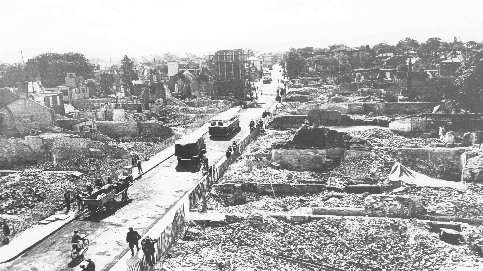 Homes ruined after 1942 blitz