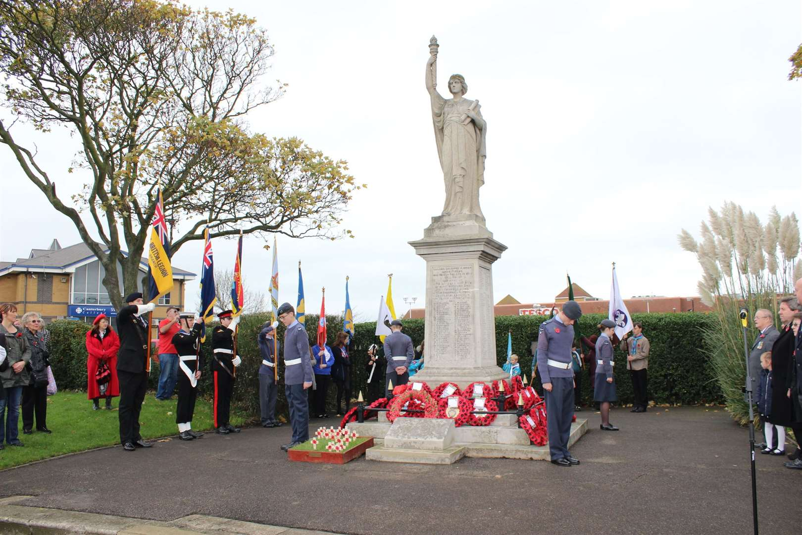 Remembrance Sunday service at Sheerness cenotaph. File photo