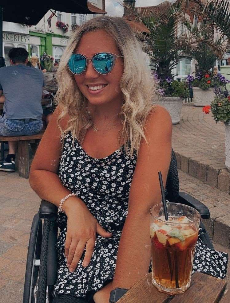 Hayley Bray says wheelchair access around Deal is poor and would like to see improvements