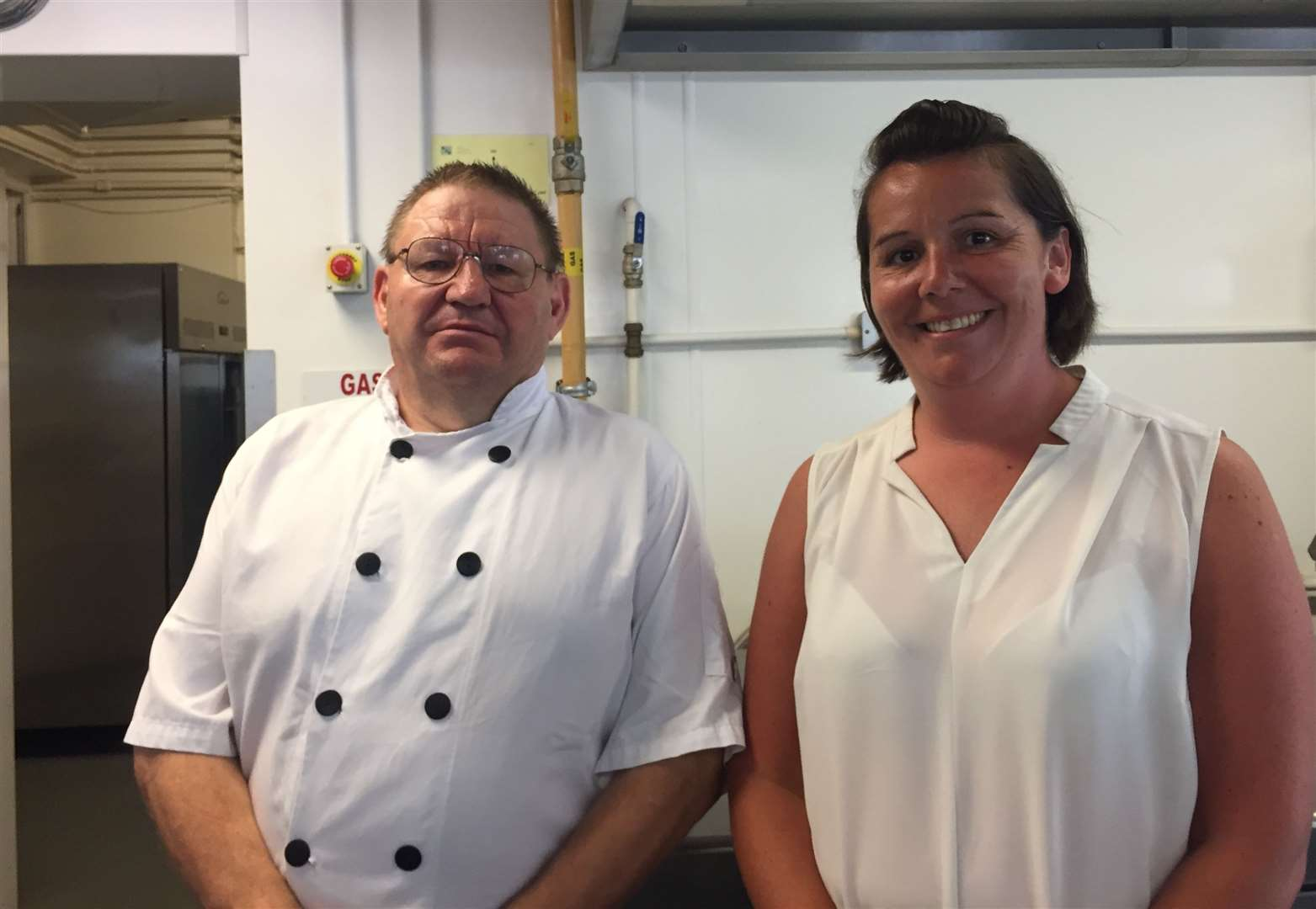 Head chef of Precincts, Mark Williams and director of catering, Kerry Reed