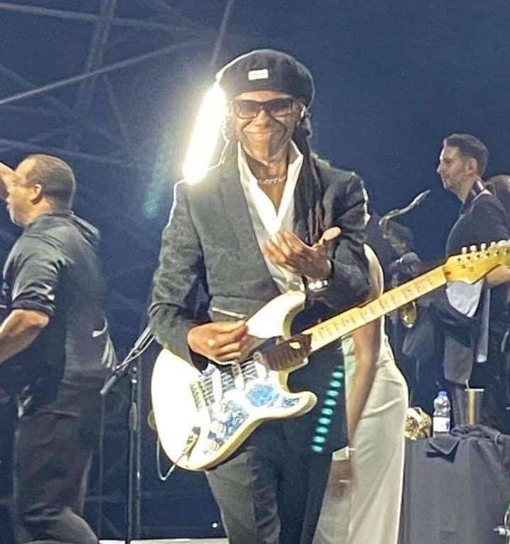 Nile Rodgers performs at Dreamland Photo: Angela Whitton