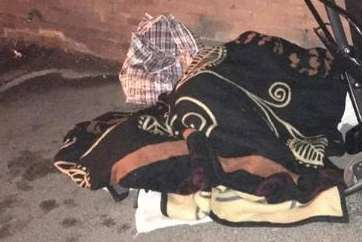 A homeless person sleeping on the streets of Chatham. Picture: Medway Help for Homeless