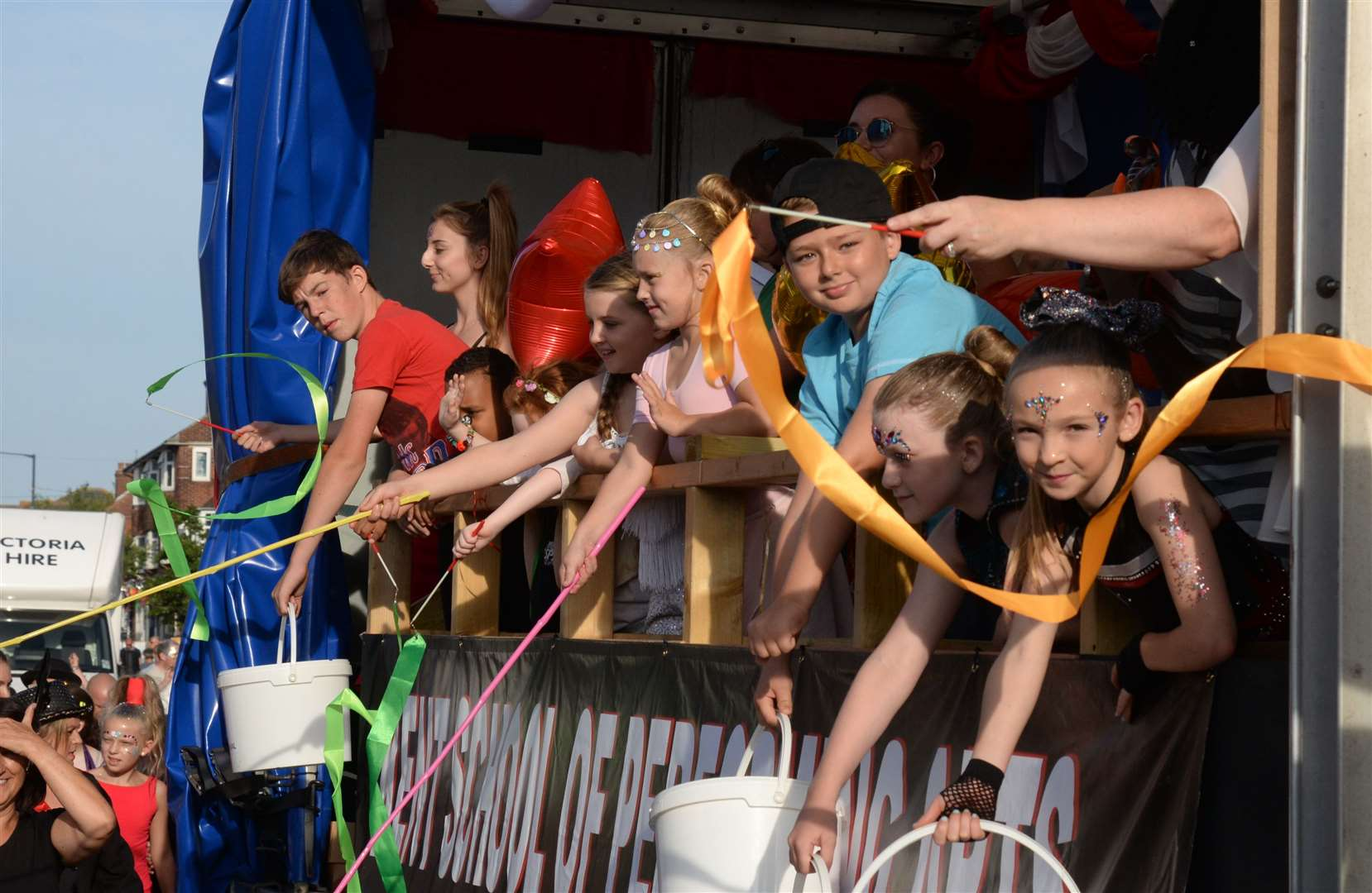 The Kent School of Performing Arts float at the Whitstable Carnival last year