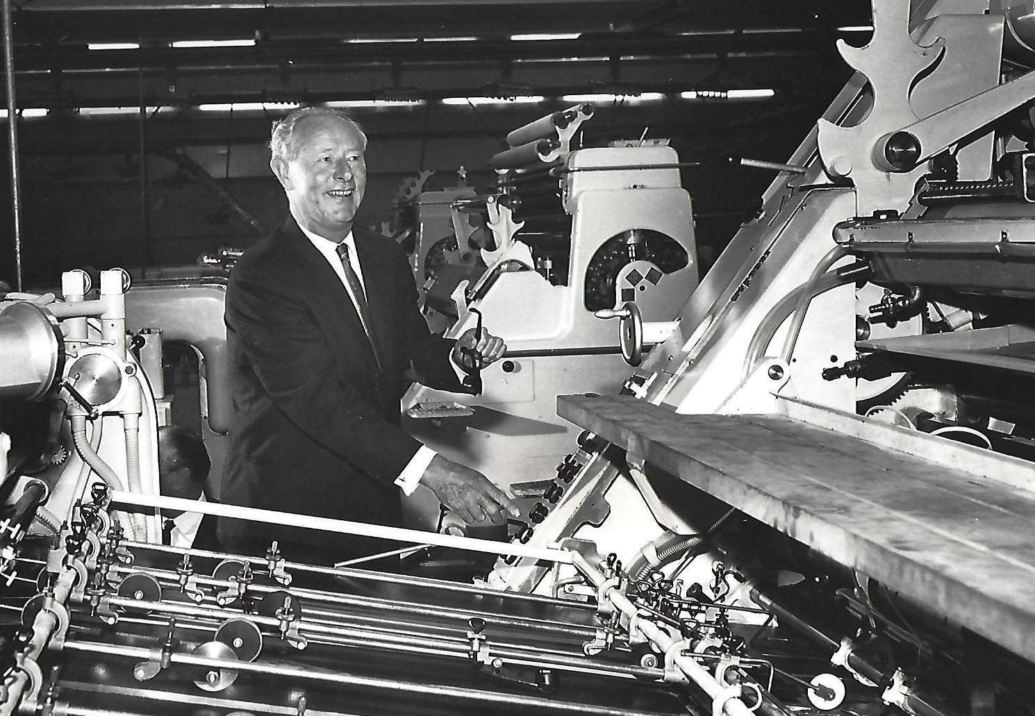 Richard Hearne starts a new Roland press at Passmore's printing factory in Tovil in 1967