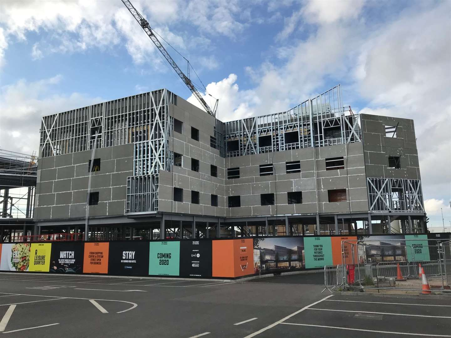 Construction work is well underway on the hotel company's latest Kent branch