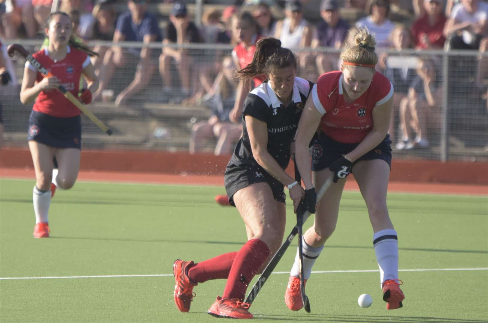 Holcombe in action during the EuroHockey Club Trophy. Picture: Theresa Waight