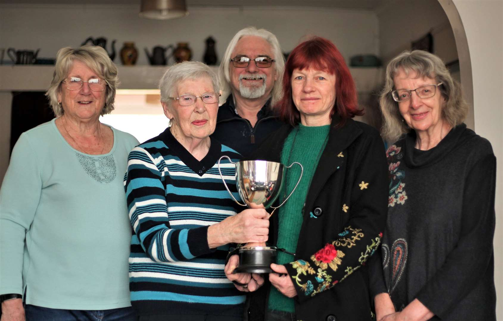 Former carnival organisers Carol Simmons and Carol Sims, with new treasurer Chris Stone, chair Belinda Murray and secretary Jane Bowell. Picture: Chris Stone
