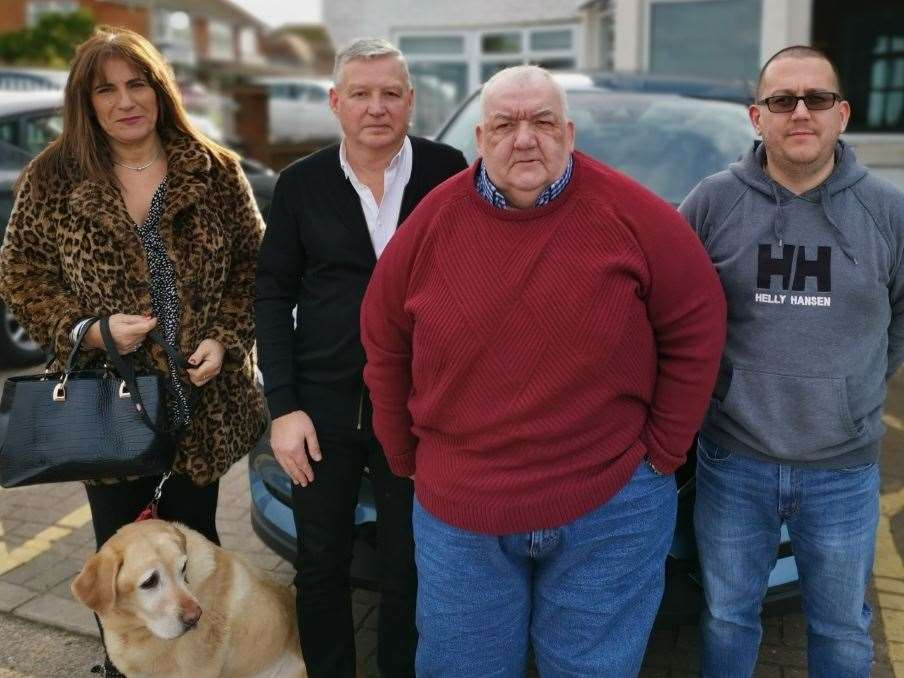 Andy, pictured with other taxi firm owners in Thanet