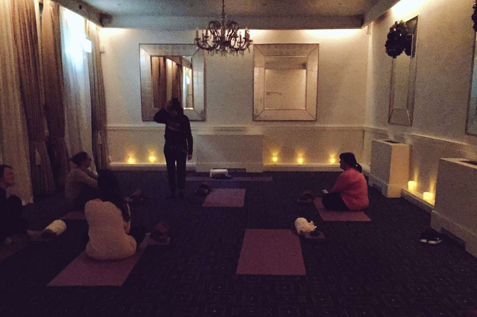 The yoga activities in the former coach house. Credit: Molly Mileham-Chappell