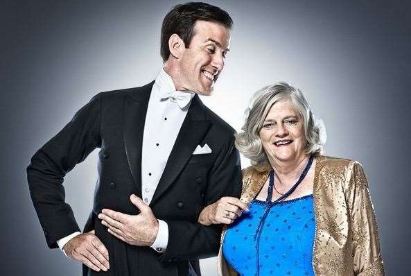 Ann Widdecombe with her Strictly partner, Anton