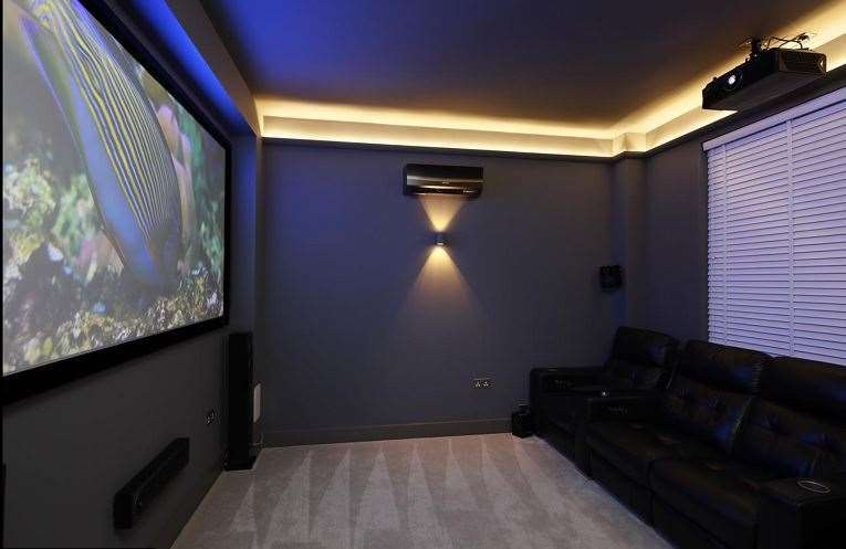 The house even has a cinema room