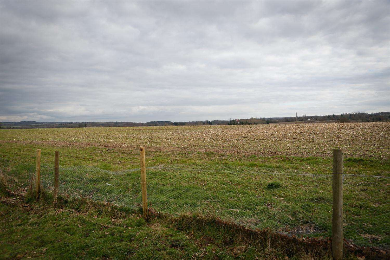 Site of proposed Waterside Park off the A20 Ashford Road, Hollingbourne