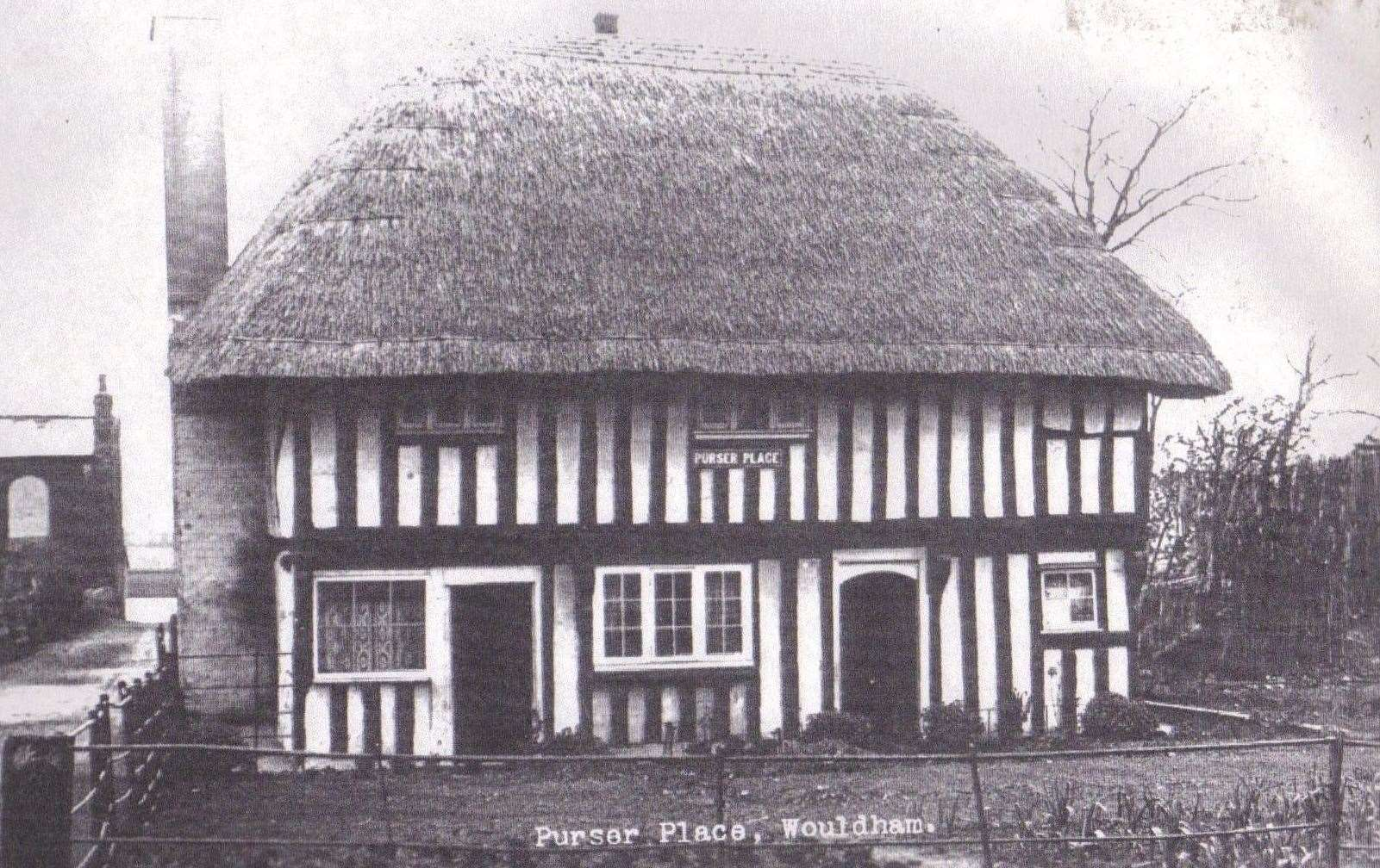 The heavily timbered Purser Place, Walter Burke's first Wouldham home (19542070)
