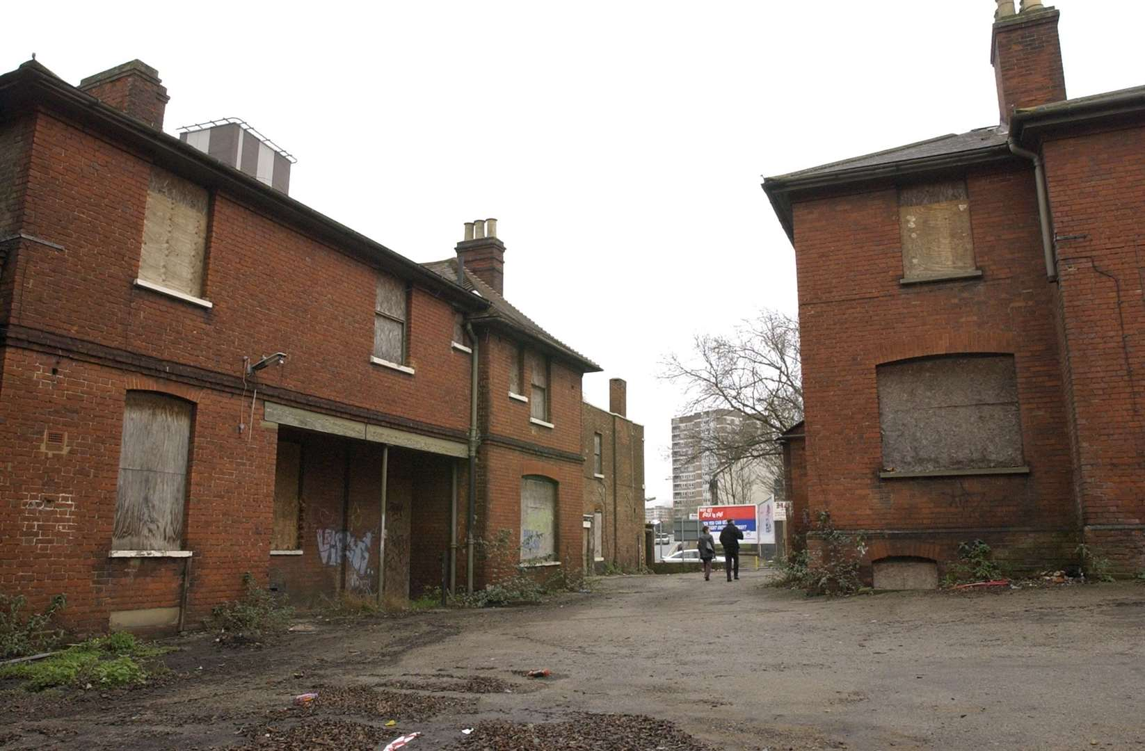 A bid to develop the dilapidated site was given the green light three years ago. Picture John Wardley
