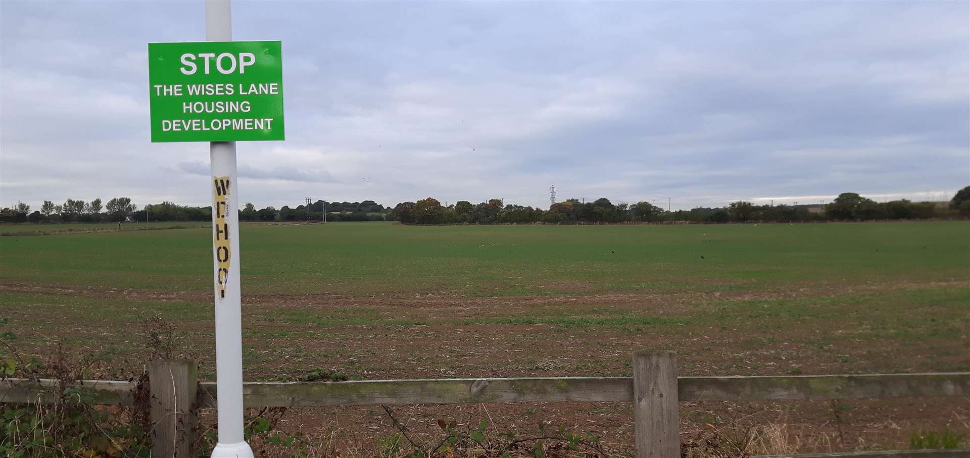 Campaigners have fought against plans for homes off Cryalls Lane and Wises Lane in Borden