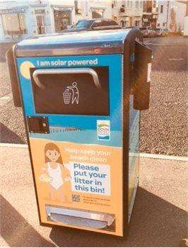 Six new solar powered bins have been installed along Deal seafront (6102702)