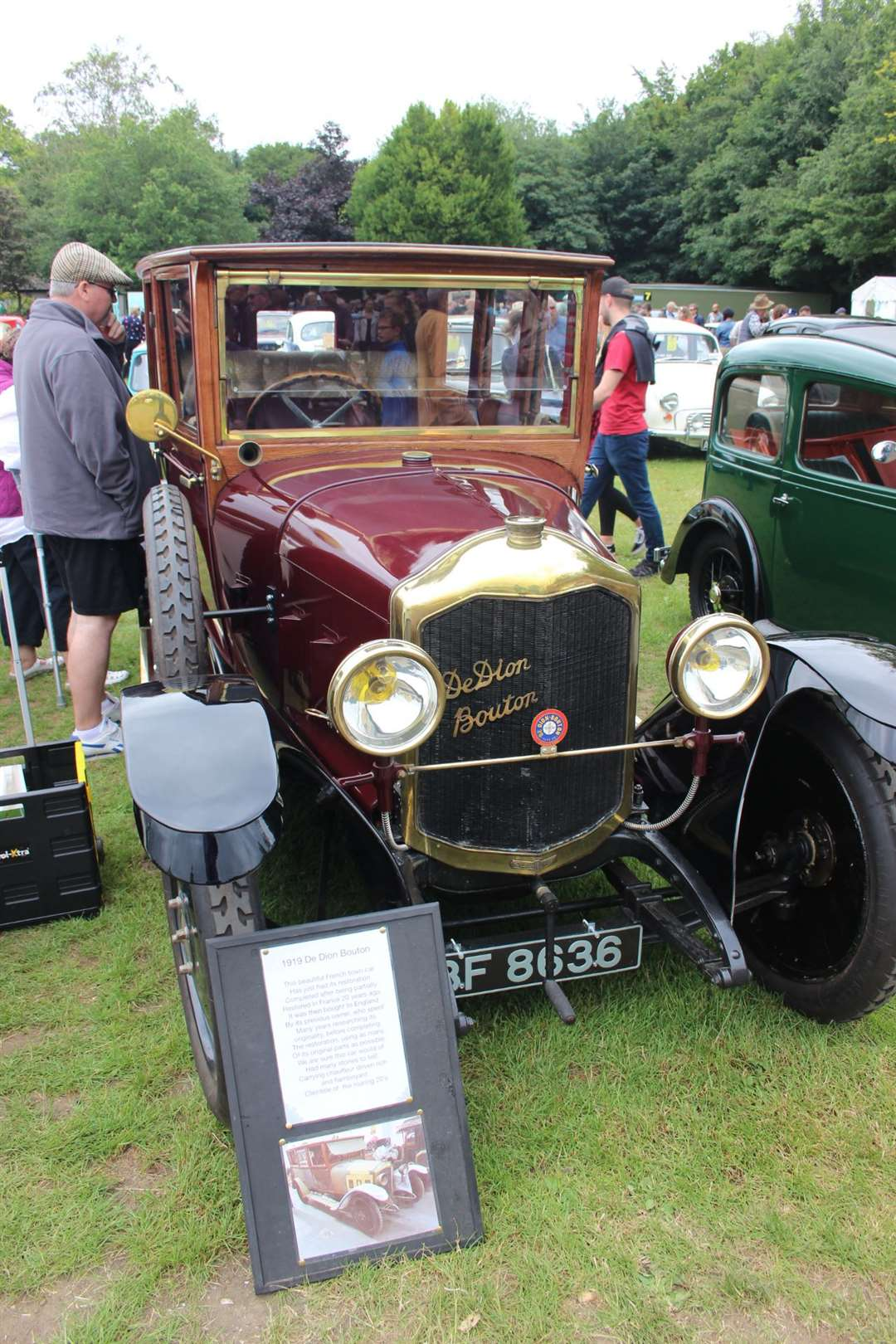Classic car: This 1919 De Dion Bouton from France was exhibited at the Kent County Show by Paul Weeks who runs the Sweet Hut on Minster Leas, Sheppey (13545709)