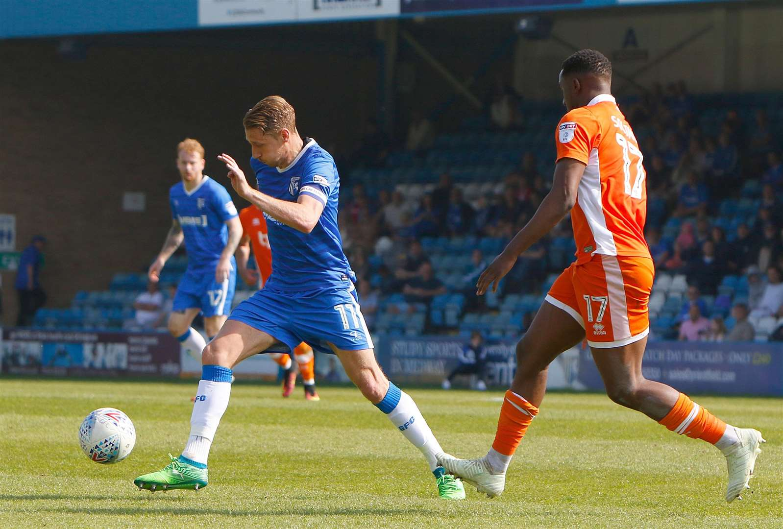Gillingham midfielder Lee Martin on the ball Picture: Andy Jones