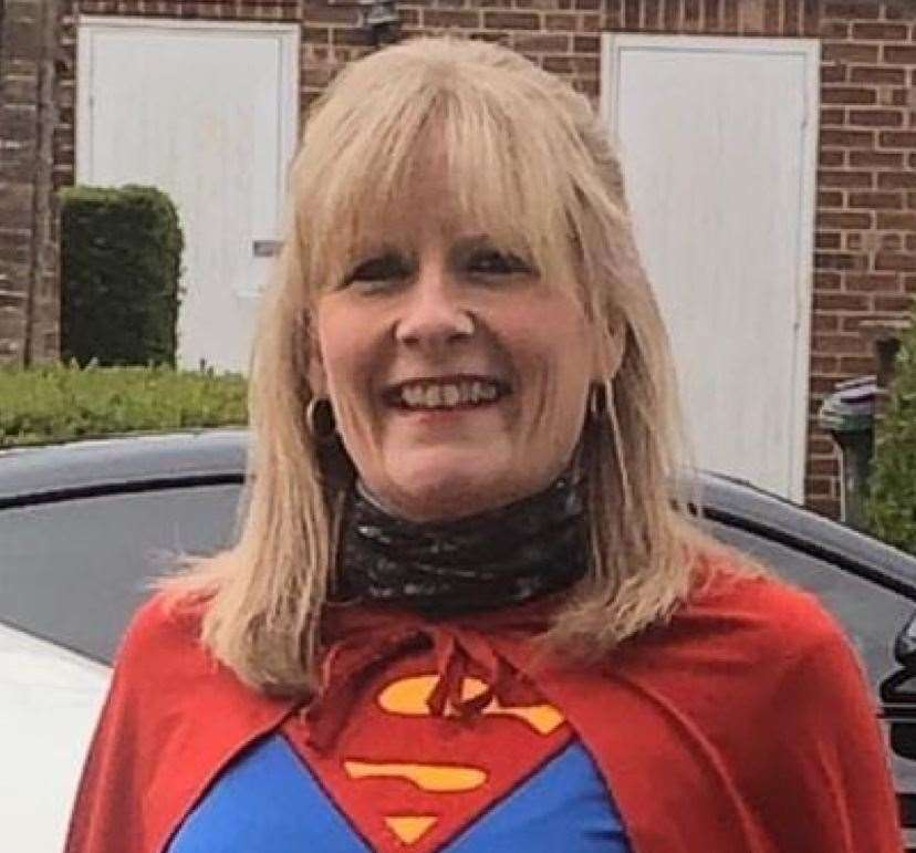 Hawkinge Hurricanes were set a fancy dress or matchy matchy challenge. Charlotte Strickland - a true superwoman (33535892)