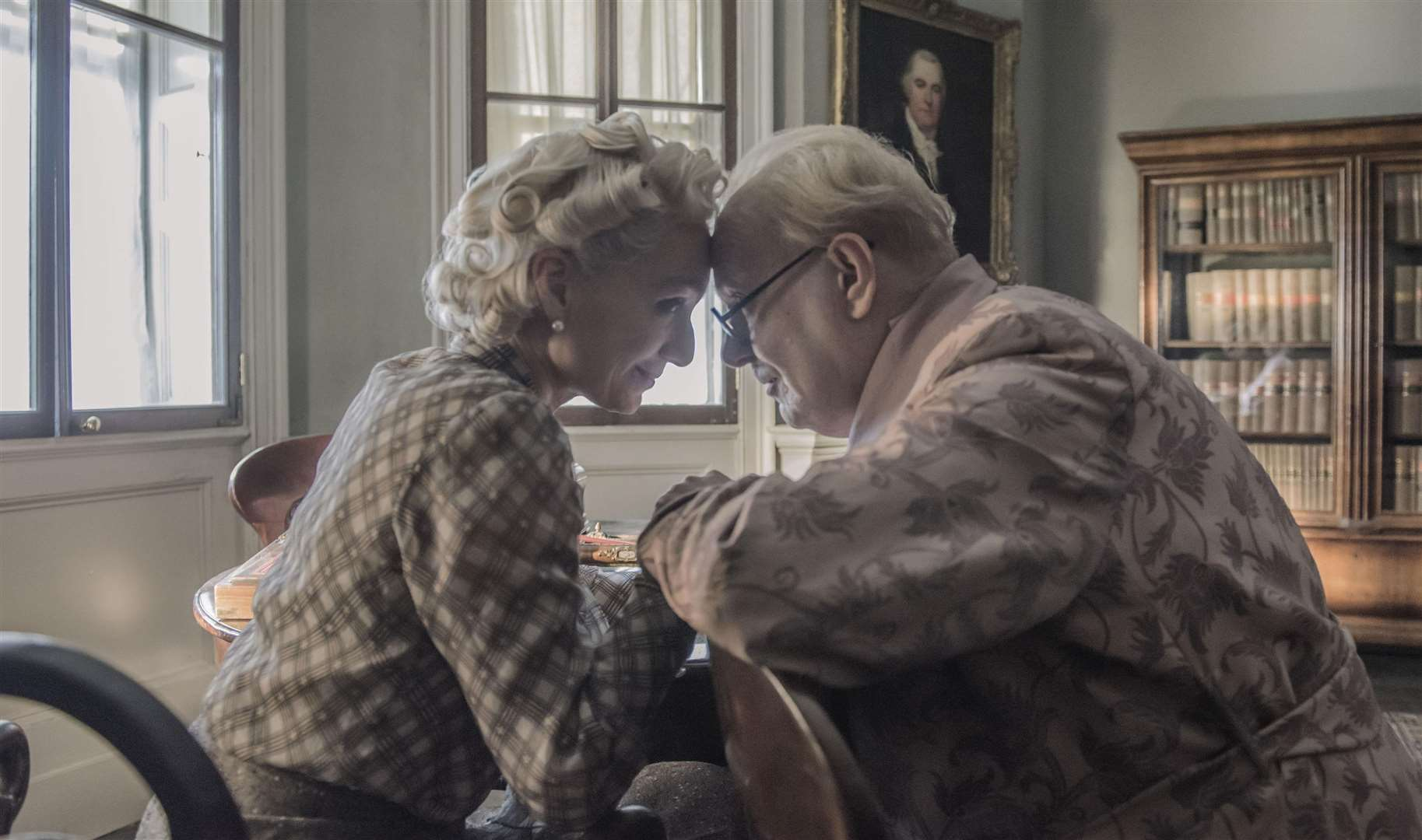 Kristin Scott Thomas as Clementine Churchill and Gary Oldman as Winston Churchill in Darkest Hour. Picture: PA Photo/Universal Pictures International/Focus Features/Jack English