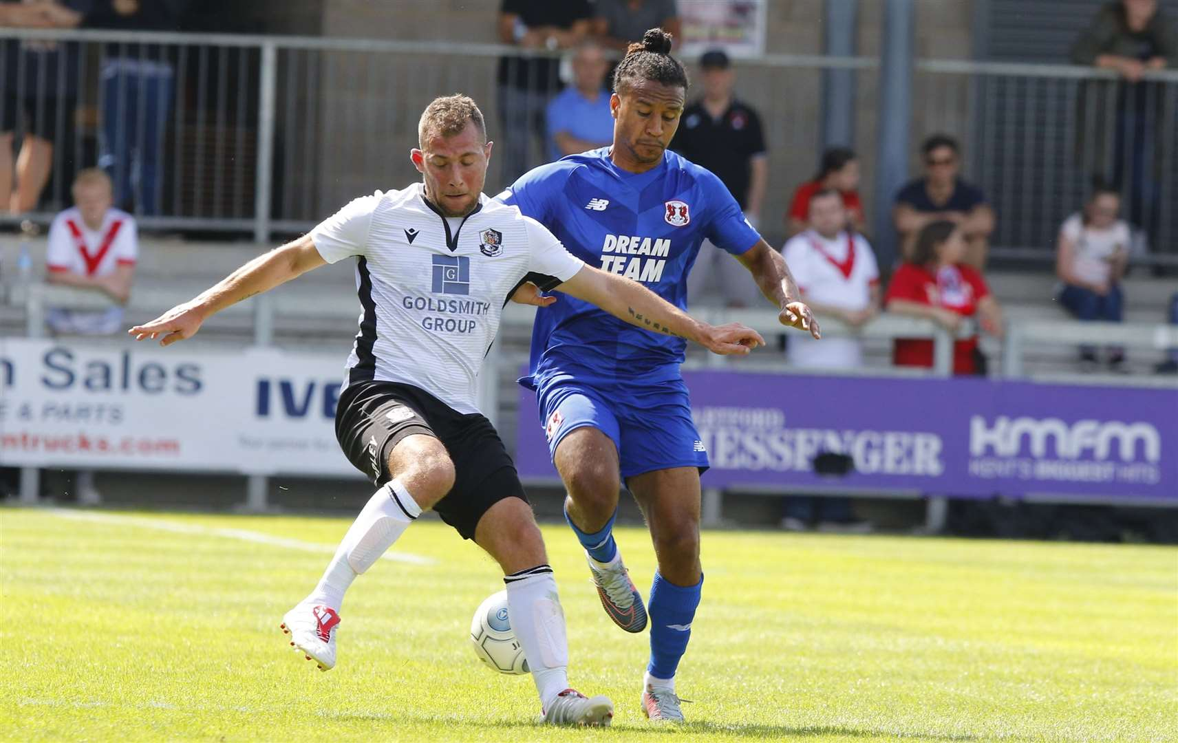 Ryan Hayes in pre-season action for Dartford against Leyton Orient. Picture: Andy Jones