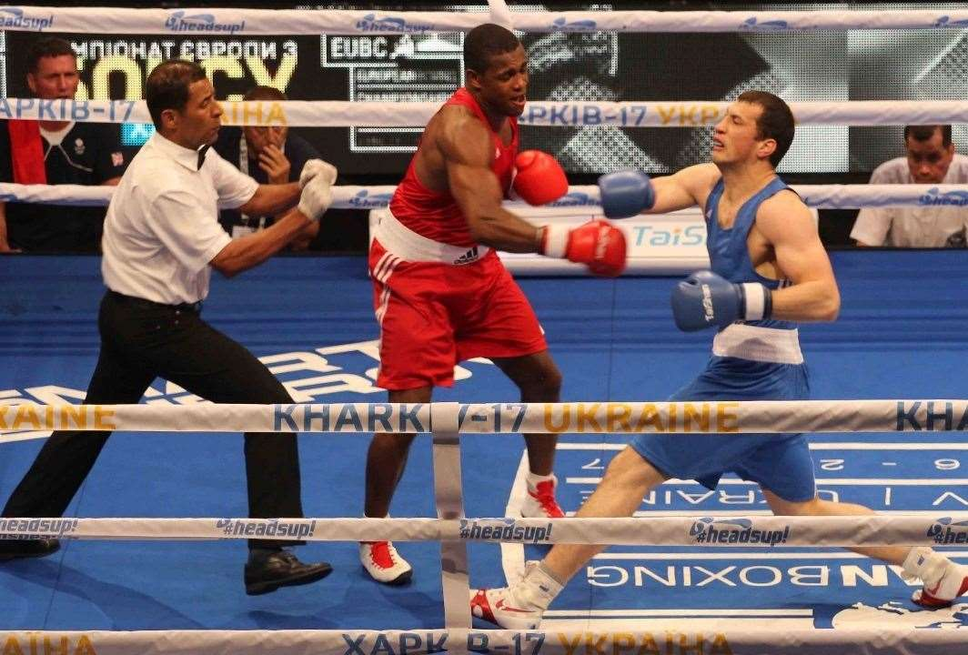 Cheavon Clarke packing a punch in European Championship action