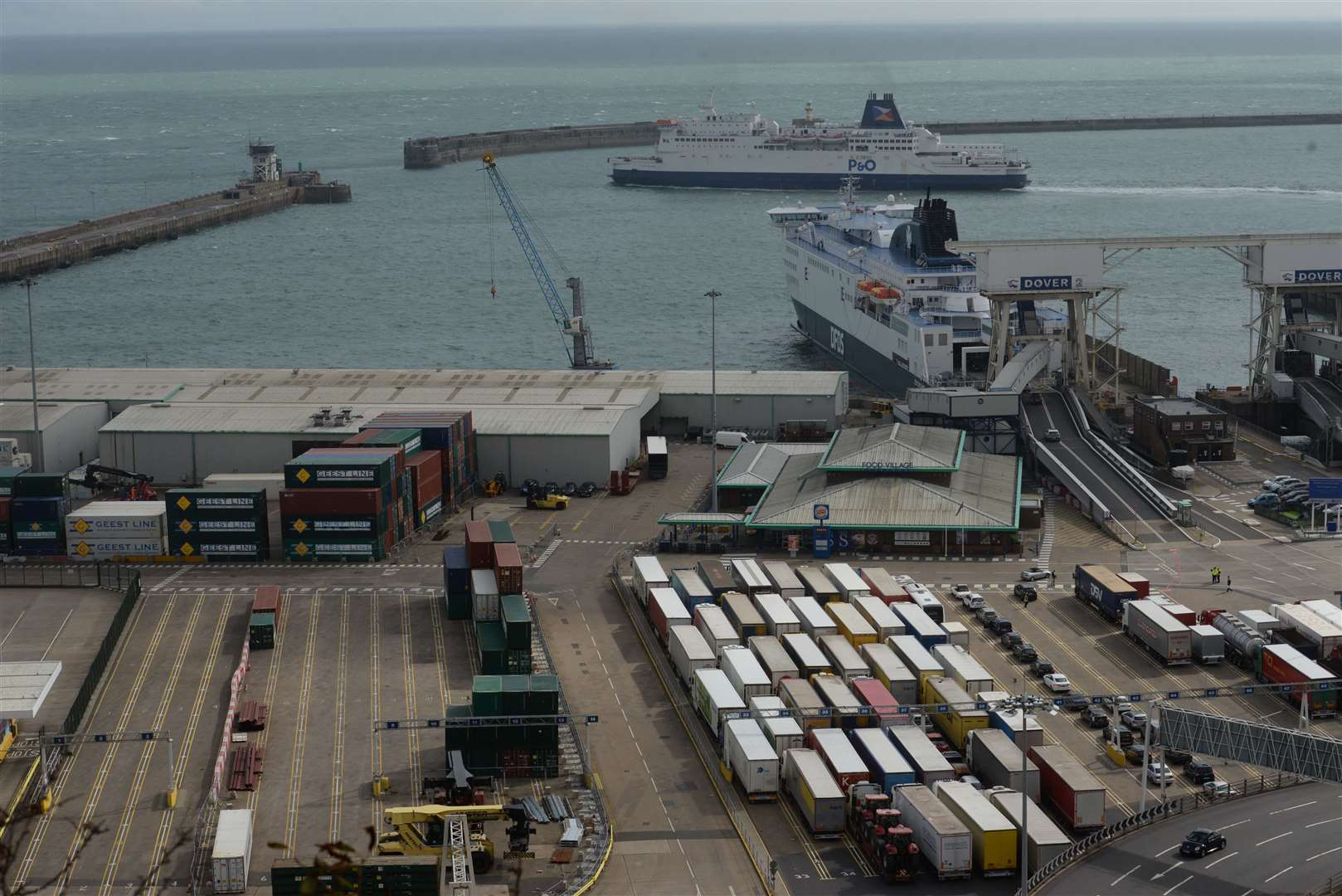 The first group was found at Dover Eastern Docks. Library image