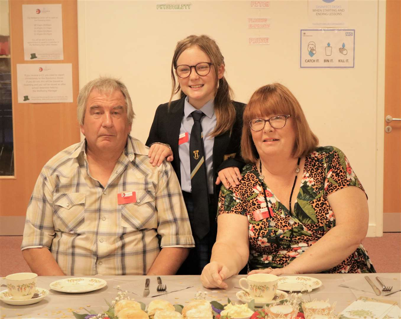Kirsty Gaythwaite's parents Maurice and Sonya attended the surprise tea party with Kirsty's daughter Grace