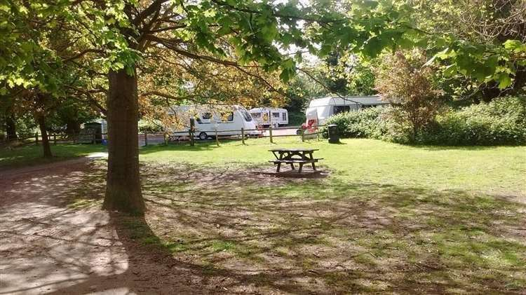 Travellers at Penenden Heath in May this year