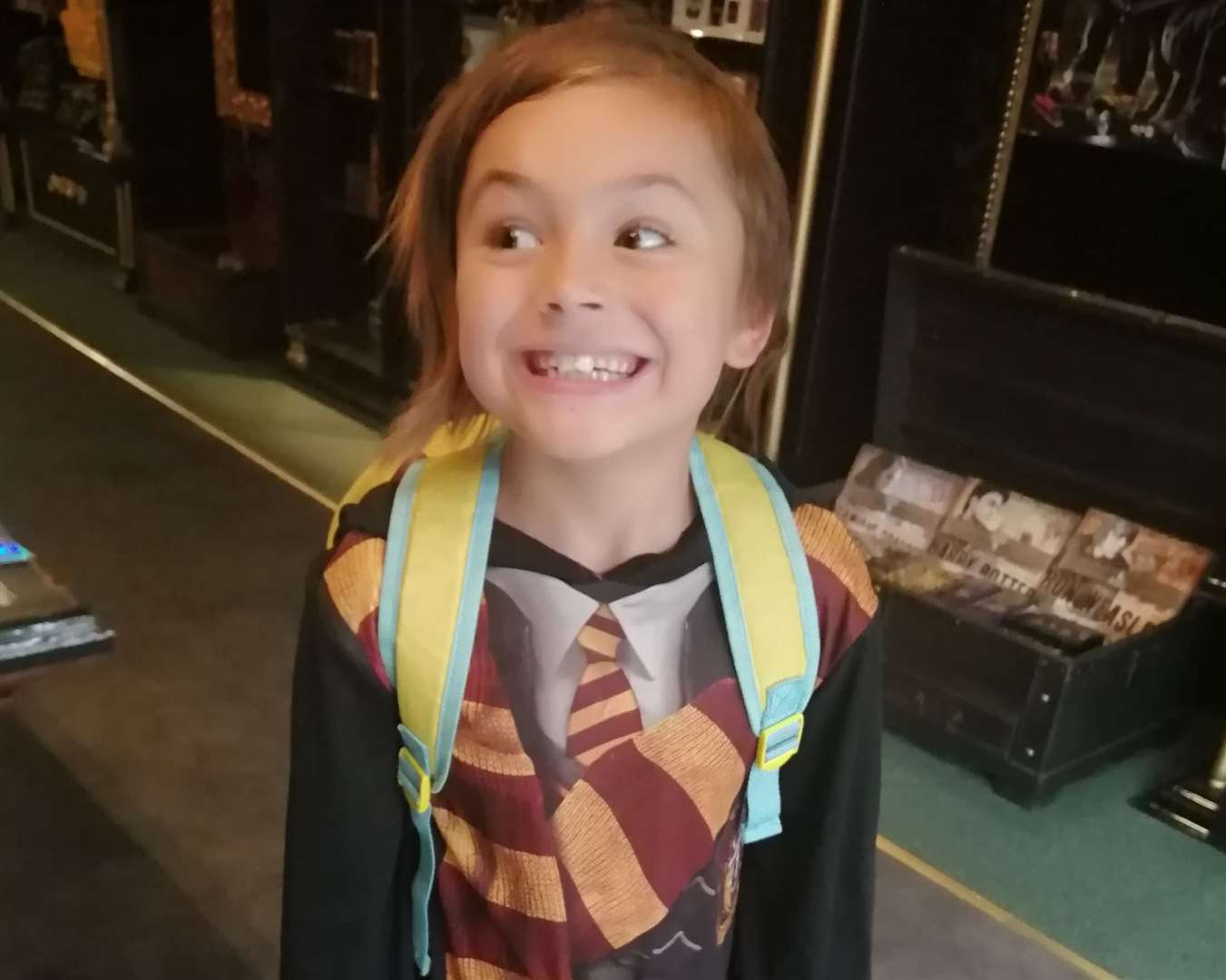 Amir Hairan, 7, dressed up in his Harry Potter attire at the new store. Pic: Megan Osborne (16135754)