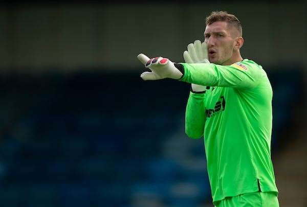 Gills keeper Jack Bonham on Saturday Picture: Ady Kerry (14059020)