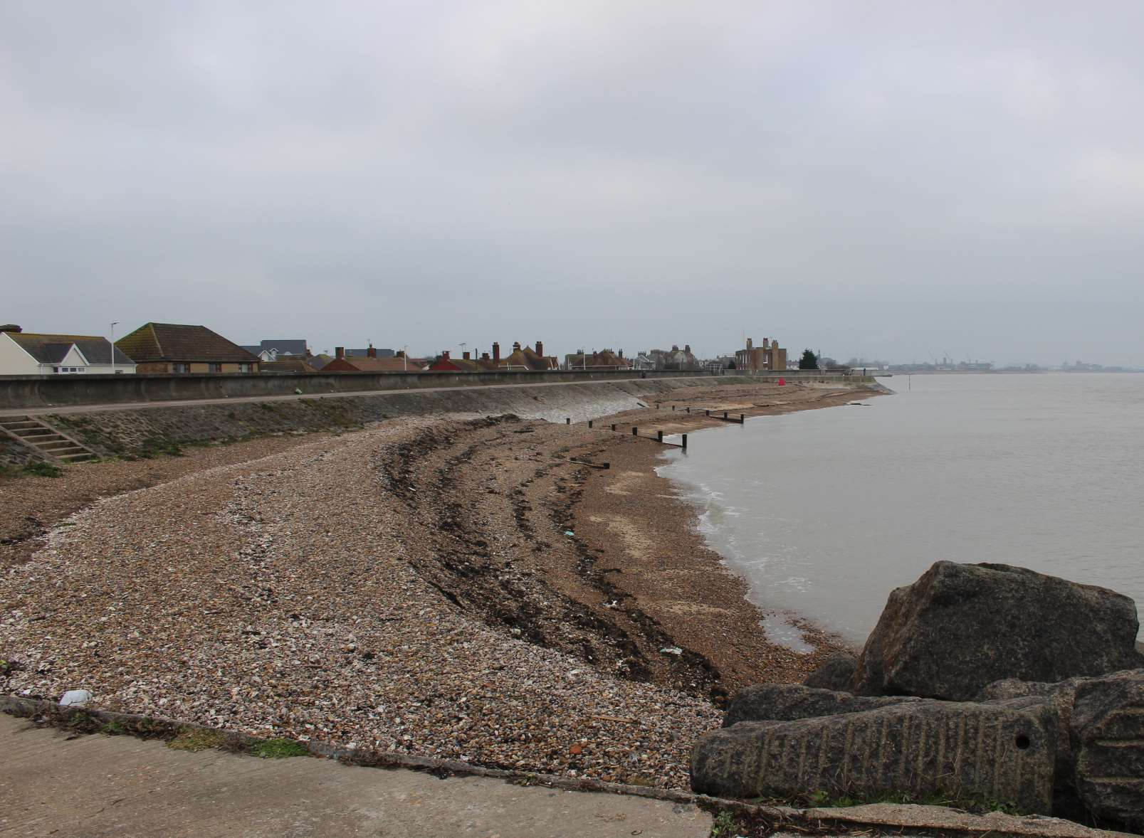 The bay at Sheerness in front of the Ship on Shore pub where a new harbour could be built