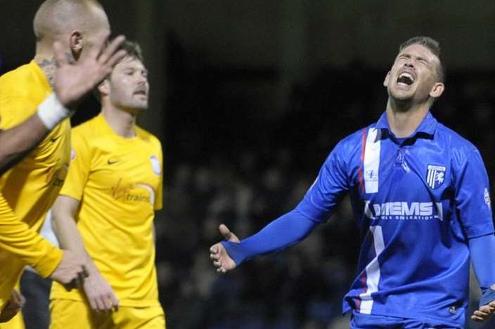 Gillingham striker Cody McDonald Picture: Barry Goodwin