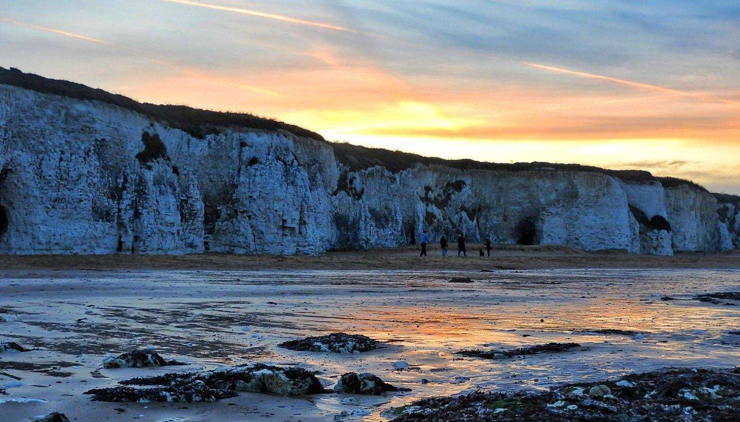Carole Adams sent in this stunning picture of Botany Bay at sunset