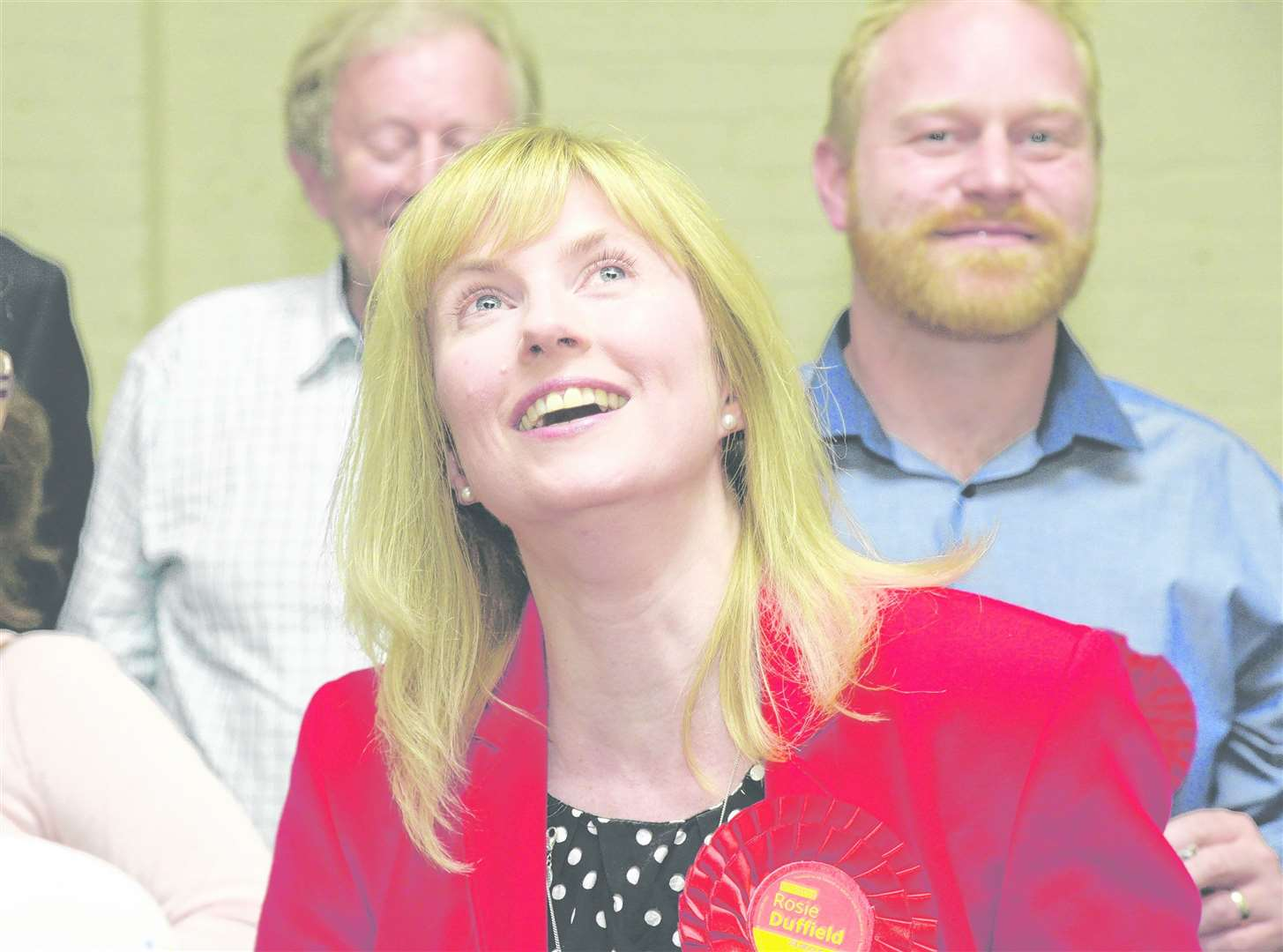 Labour's Rosie Duffield after winning the recount at the Westgate Hall, Canterbury Picture: Chris Davey