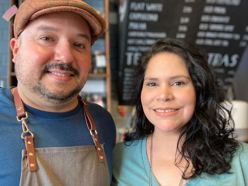 Husband-and-wife Antonio Bolivar and Luisa Vicent, who run Burgate Coffee House. Picture: Luisa Vicent