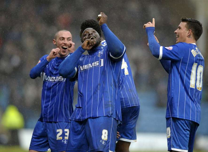 Gills celebrate a goal in an exciting 3-2 win over Port Vale last season Picture: Barry Goodwin