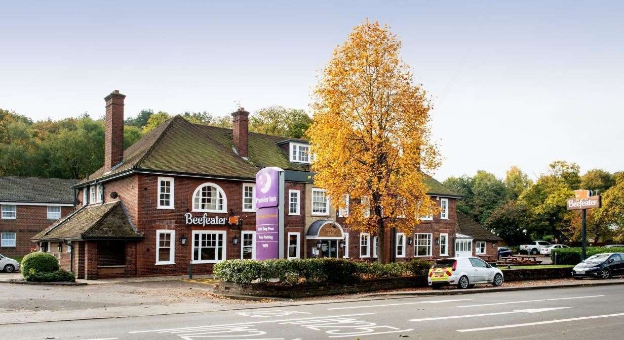David Barnes died after choking on his dinner at The Royal Oak Beefeater, in Sevenoaks