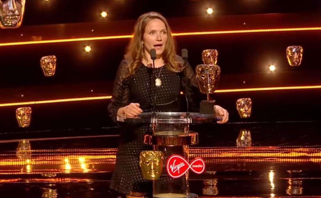 Mrs Hynes accepting her BAFTA last year. Credit: BAFTA Youtube Channel