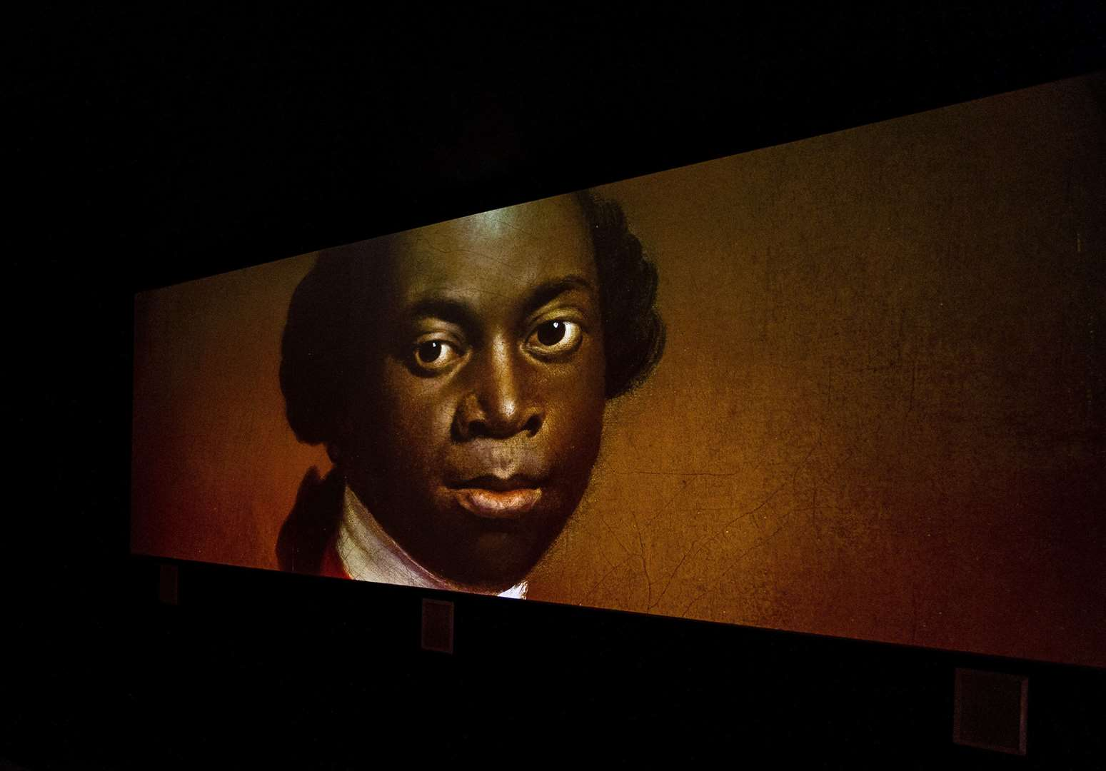 A photo of Olaudah Equiano from a play at The Historic Dockyard in Chatham, Photo: Rikard Osterlund