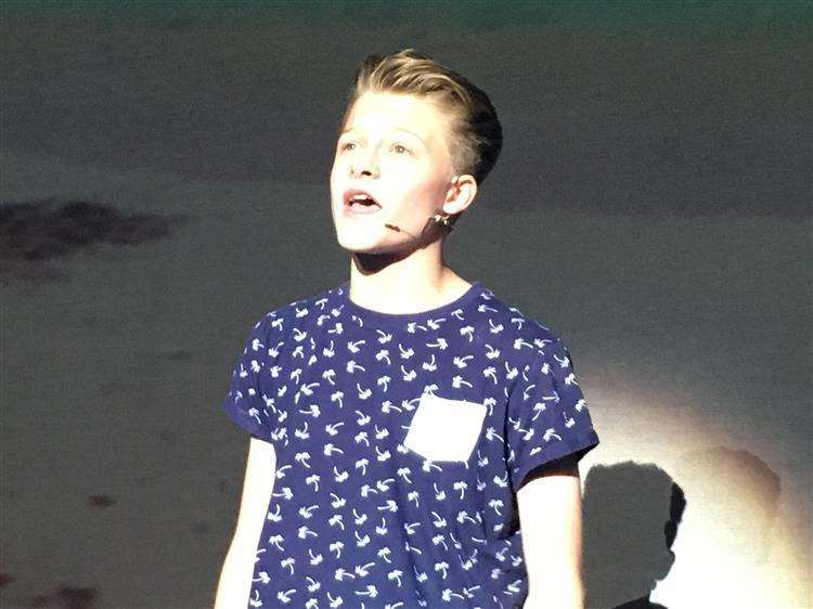 Cooper as Sky in Mamma Mia in the Showbiz Academy Showcase in 2017
