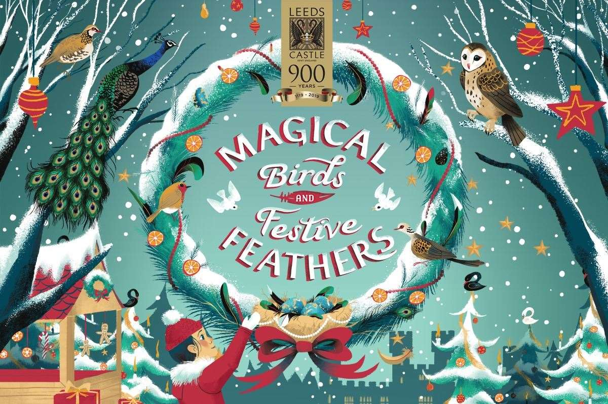 It's going to be a Christmas of magical birds and festive feathers at Leeds Castle so don't miss out!
